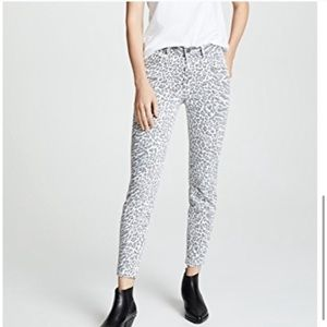 Current/Elliot Animal Print Ankle Skinny Jean 28